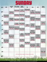 ACL sunday schedule by IzabelMarrupho