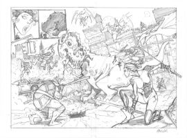 TMNT DOUBLE PAGE SPREAD PENCILS by interstateninja