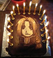 Cake - Edward Elric by Lutra-Gem