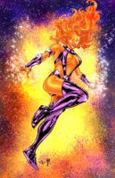 Starfire - RichBGuam colors by SpiderGuile