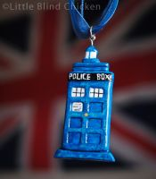 TARDIS Polymer Clay Necklace by Little-Blind-Chicken