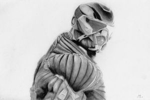 Crysis - Nanosuit 2 drawing by b03tz