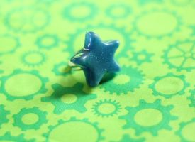 Starlight Sparkle - Blue Glow in the Dark Ring by SteampunkOni