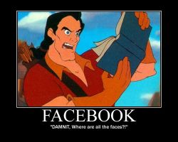 Gaston Reads Facebook by LivingShadowDarkMark