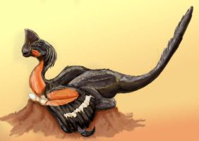 oviraptor empollando by epic3d