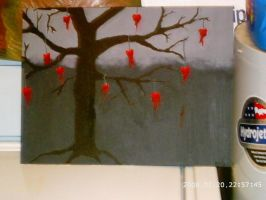 tree with bleeding hearts by poison-is-my-koolaid