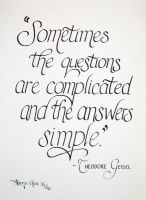 Answers are simple by unknowninspiration
