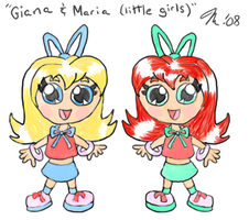 Little Giana and Maria by melissaduck