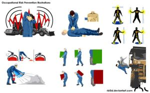 Occupational Risk Prevention Illustrations. by rbl3d