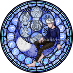 Stained Glass: Jack Frost -Vector- by Akili-Amethyst