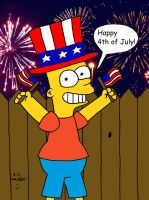 Bart celebrate 4th of July Revisited by DJgames