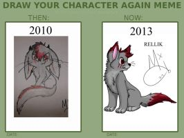 Draw Your Character Again Meme By Cialli-d56df by Meeka-Moo
