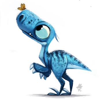 Daily Paint 651. Jurassic Book - Style Exploration by Cryptid-Creations