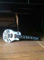 Frank Iero's guitar 'Pansy' clay charm by 3cheersforart