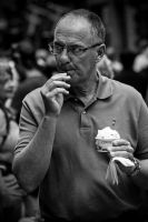 A man and his icecream by attomanen