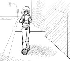 Walking to school sketch by Hero-of-Awesome