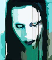 Marilyn Manson Vector by coma-white