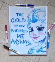 Elsa White Board by allistella