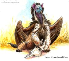 Lappet Faced Hyena Gryphon by Ahkahna