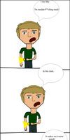 A really crappy drawn PewDiePie comic by VampiraFang1