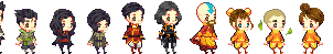 Legend of Korra Baby Sprites by Ichitoko
