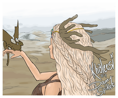 Khaleesi - The Mother of Dragons by DannyJarratt