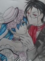 Ciel and Sebastian by Blackfireofdoom