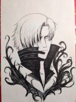 Quick Dante marker drawing by KeairaNocturna