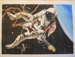 Astronaut Guitarist by gbrumle