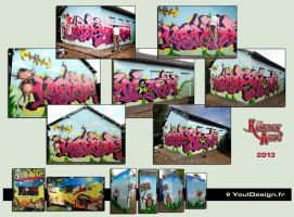 Graff live - Festival Kampagnarts 2013 by YoulDesign