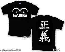 Mone Piece Marine Shirt Used Look (Concept) by Grumbeerkopp