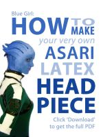How to Make an Asari Latex Headpiece by Tatter-Hood