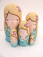 Mermaid Russian Dolls 3 by ponychops