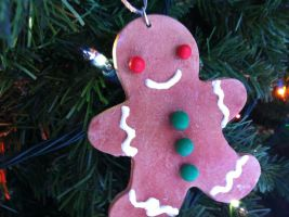 Polymer Clay GingerBread Man by Claycupcakes4