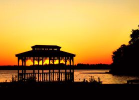 Gazebo by Sunset by TheLegendofEevee