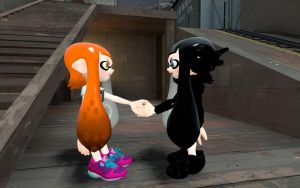 Poopy inkling and Dark squid by 123emilymason