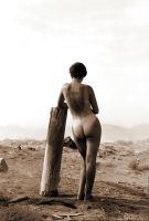 Nude in sand storm by makar013