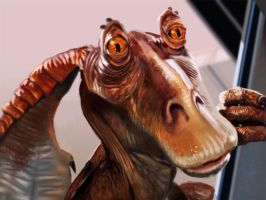 Jar Jar starwars screen shot by DhespotArt