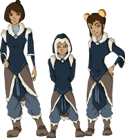 airbender kids in water tribe clothes by HarryPatridge