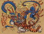 Chinese Tiger Versus Dragon by Heatherbeast
