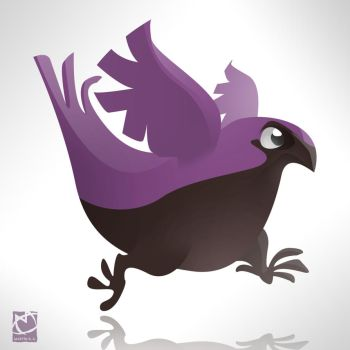 Color Animals - Purple Bird by romith