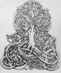 Yggdrasil and Dragon by Tattoo-Design
