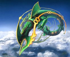 Mega Rayquaza by TheDragonofDoom