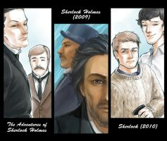 3 Version of Sherlock Holmes by min-taiwan