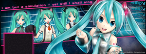 Hatsune Miku Facebook Cover by PrincessCakeNikki
