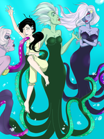 Morgana and her sea witches by HeellAwait