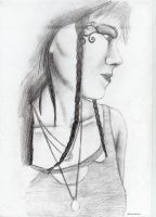 Tatoo girl-Pencil by crazydiary86