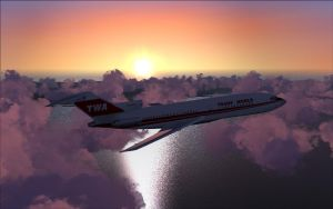 TWA 727 And the Beautiful Sunset by B737TheAirliner