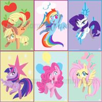 MLP Mini-Prints by RomaniZ