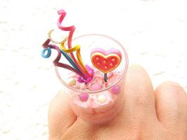 Ice Cream Candy Lollipop Ring by souzoucreations